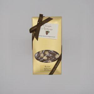 Handmade hazelnut chocolate bar