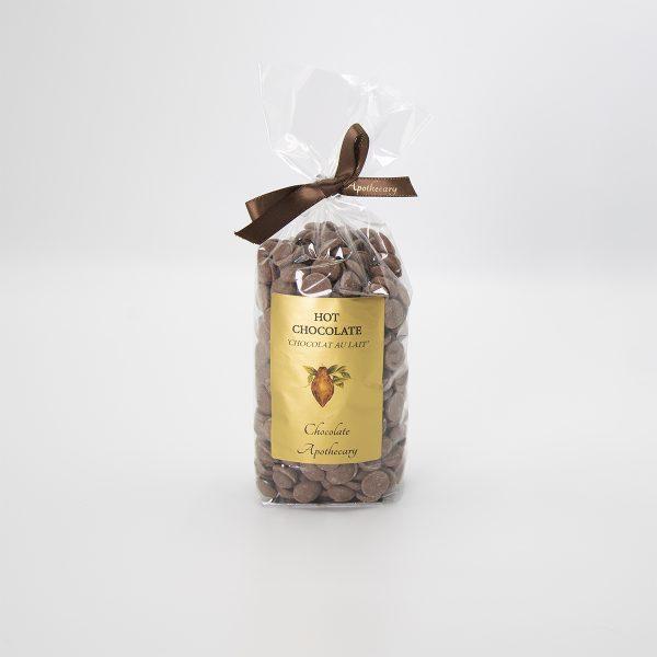 Handmade milk chocolate hot chocolate