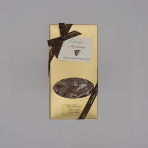 Handmade glazed orange chocolate bar