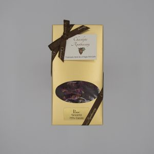 Handmade rose chocolate bar