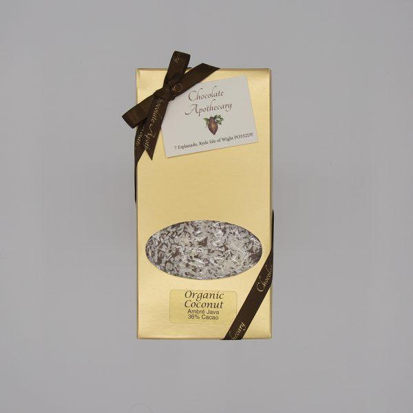 Handmade coconut chocolate bar