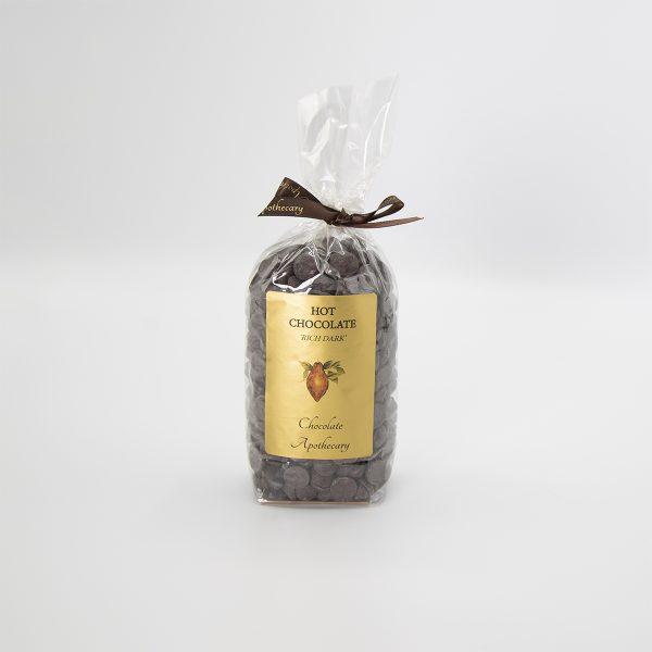 Handmade dark hot chocolate