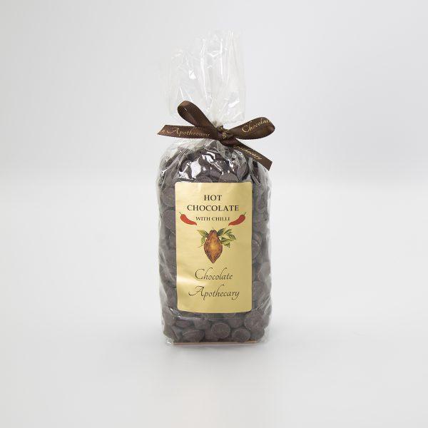 Handmade dark chilli hot chocolate