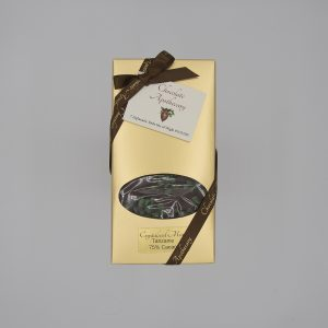 Handmade mint chocolate bar